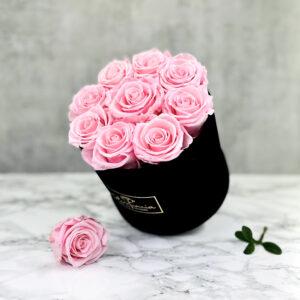 THE JUBILEE – Pink Evighetsrosor Box Rund - Velvet Black Midnight 2