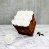 THE LEGACY – White Evighetsrosor Box Fyrkantig - Velvet Brown 2