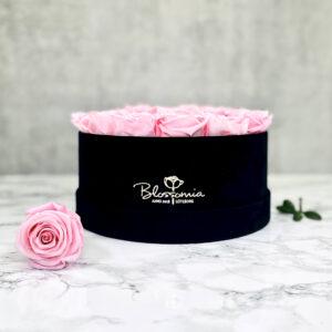 THE MILLENIUM STAR – Pink Evighetsrosor Box Rund - Black Midnight 11