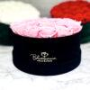 THE MILLENIUM STAR – Pink Evighetsrosor Box Rund - Velvet Black Midnight 22