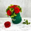 THE HOPE – Evighetsrosor röda med hortensia 1 - Velvet Green 2